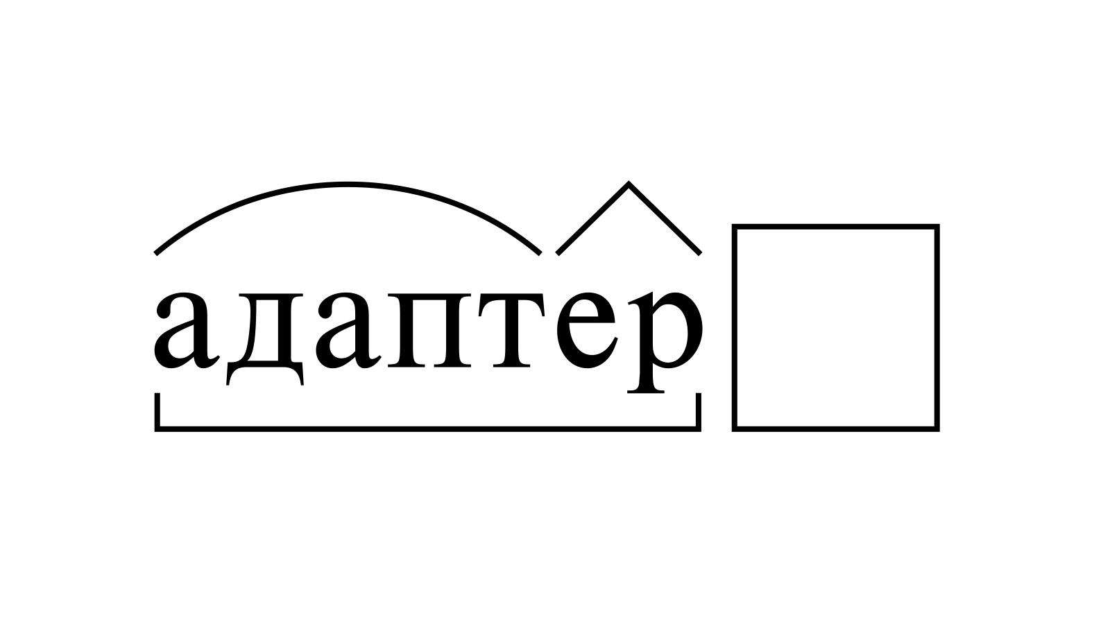 Разбор слова «адаптер» по составу