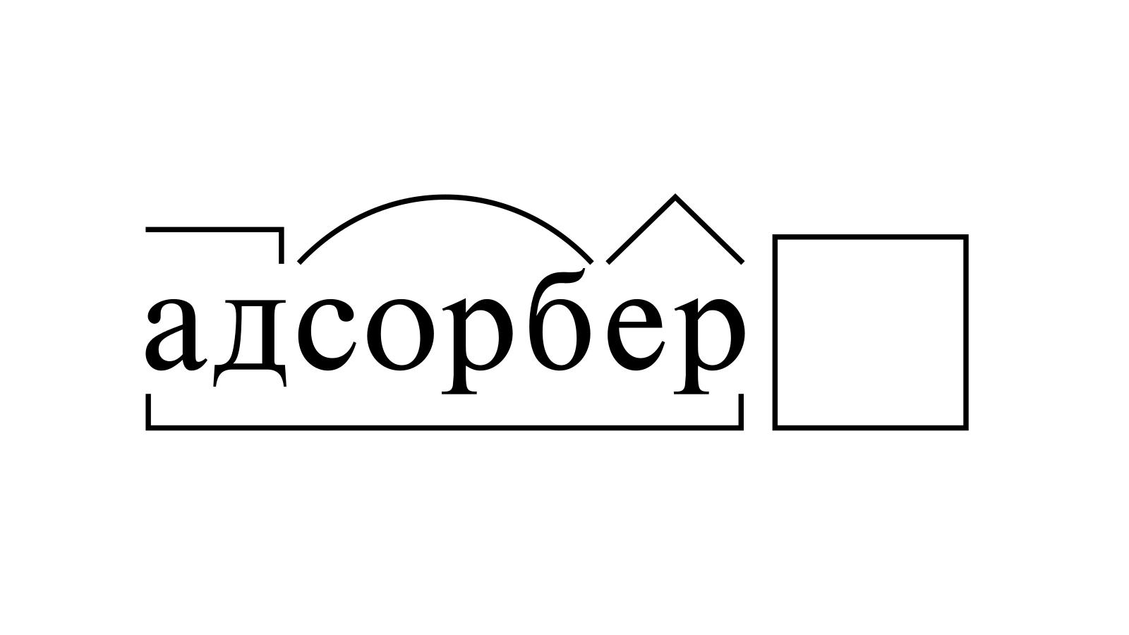 Разбор слова «адсорбер» по составу