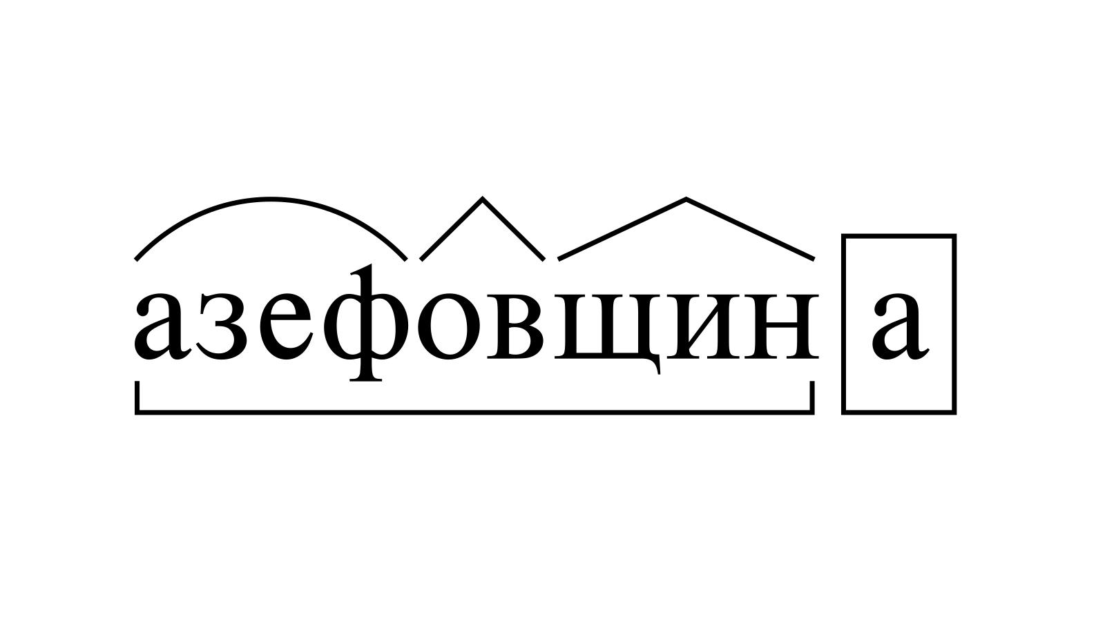 Разбор слова «азефовщина» по составу