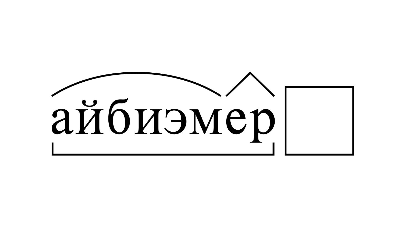 Разбор слова «айбиэмер» по составу