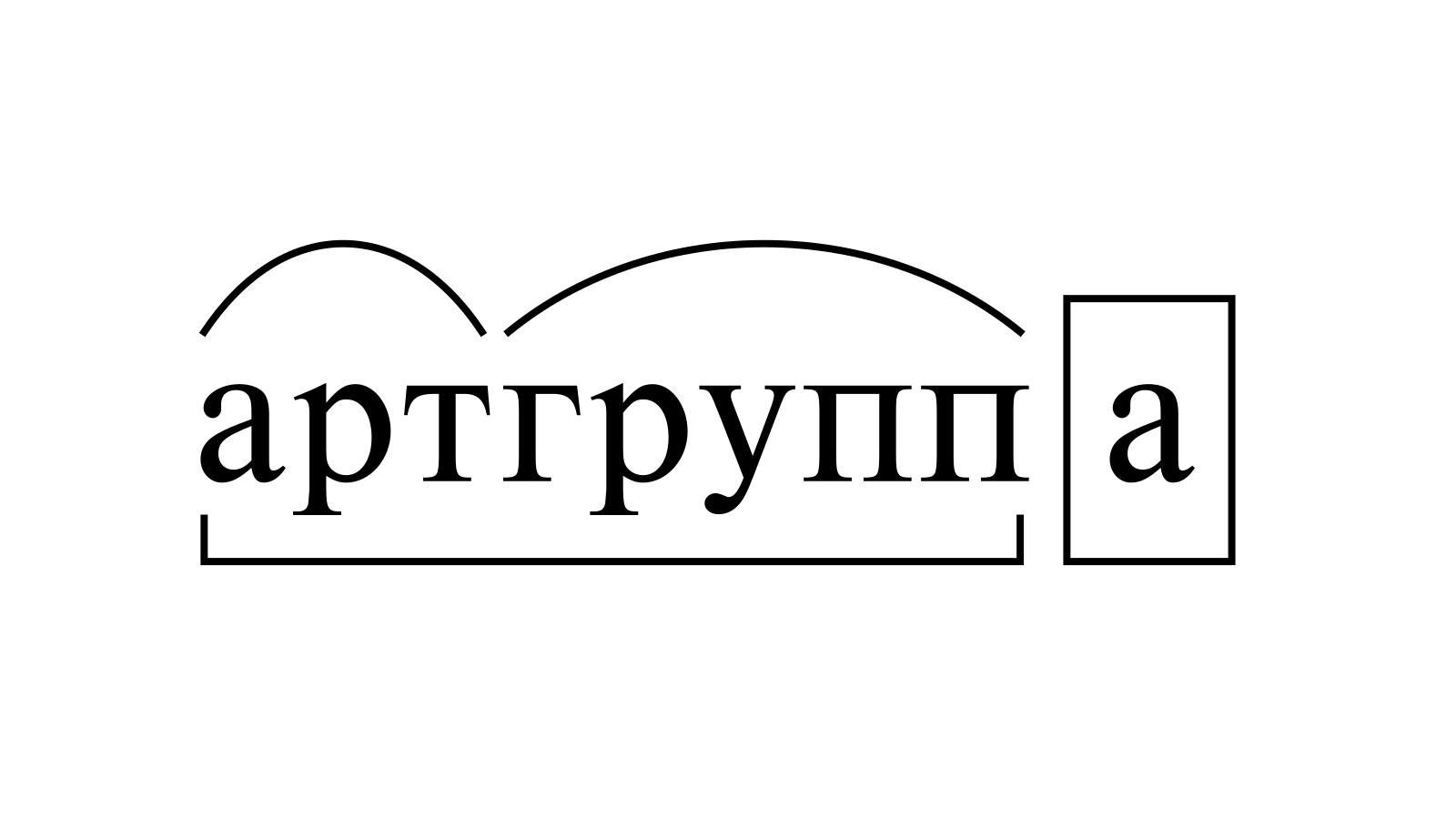 Разбор слова «артгруппа» по составу