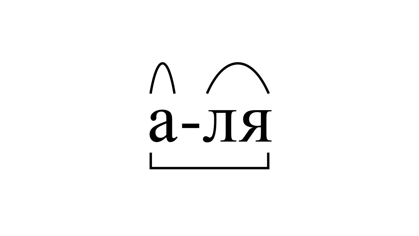 Разбор слова «а-ля» по составу