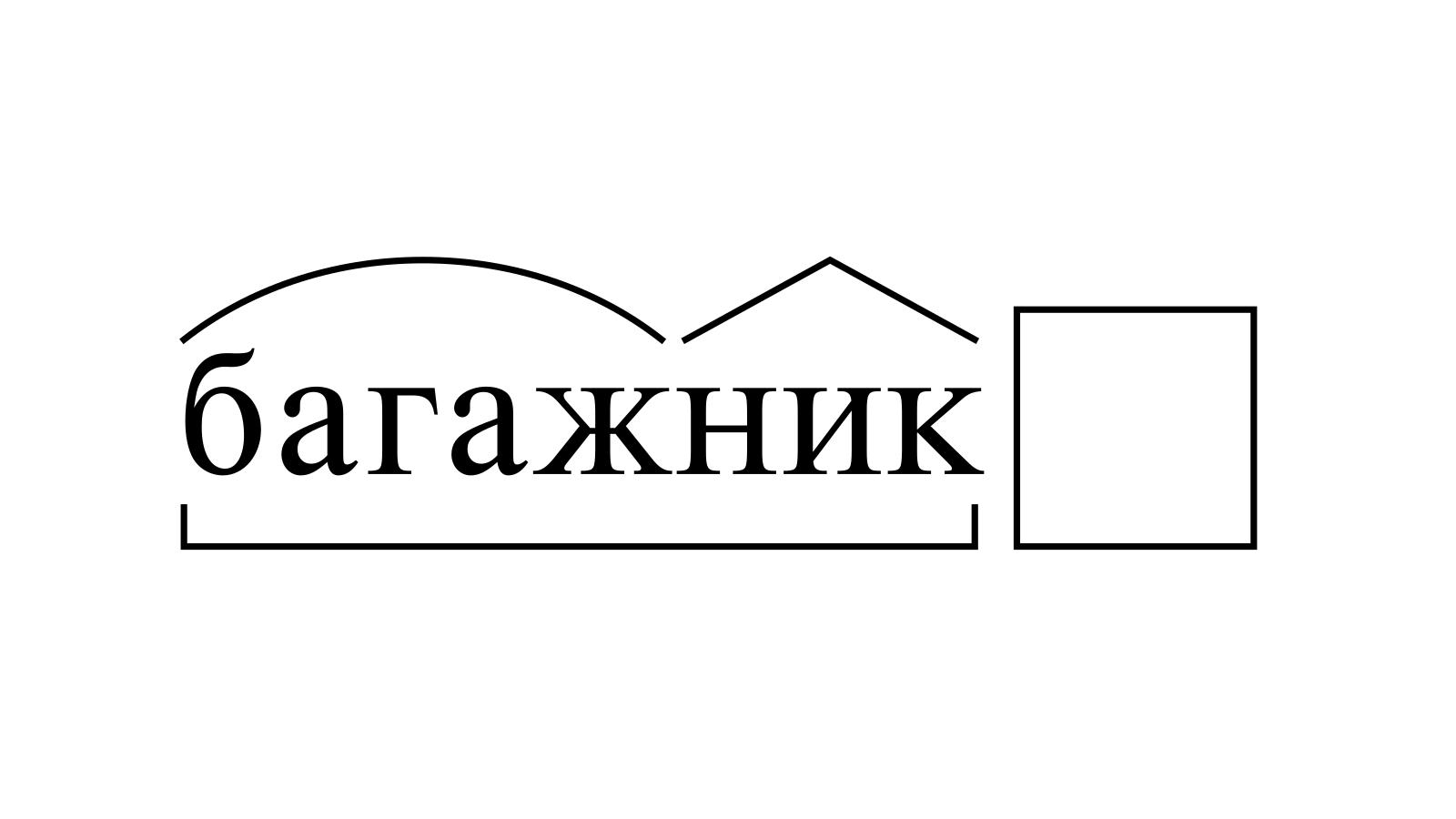 Разбор слова «багажник» по составу