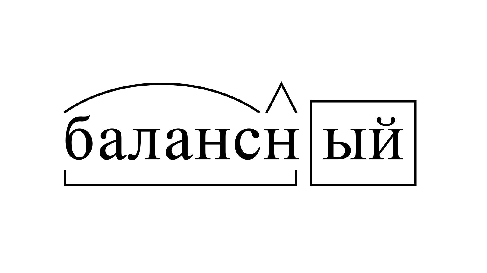 Разбор слова «балансный» по составу