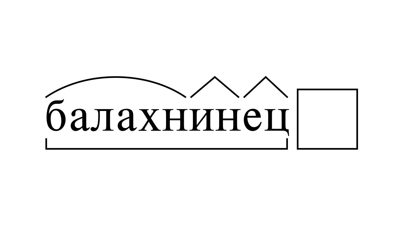 Разбор слова «балахнинец» по составу