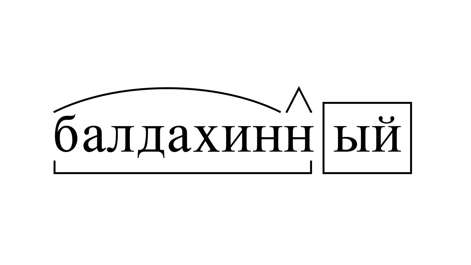 Разбор слова «балдахинный» по составу