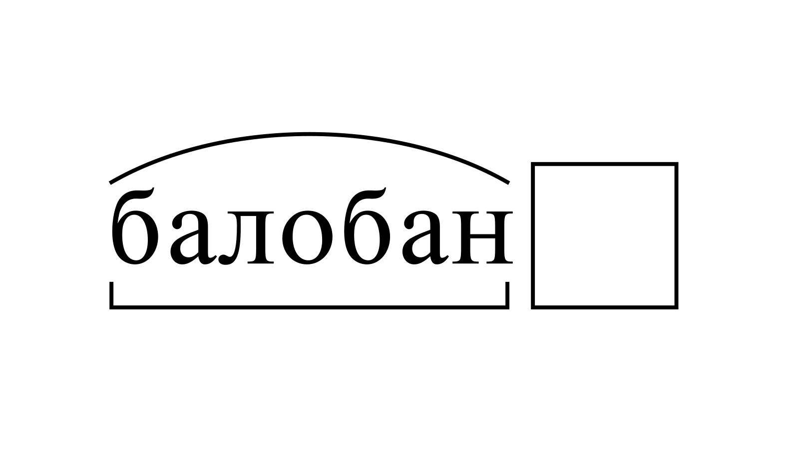 Разбор слова «балобан» по составу