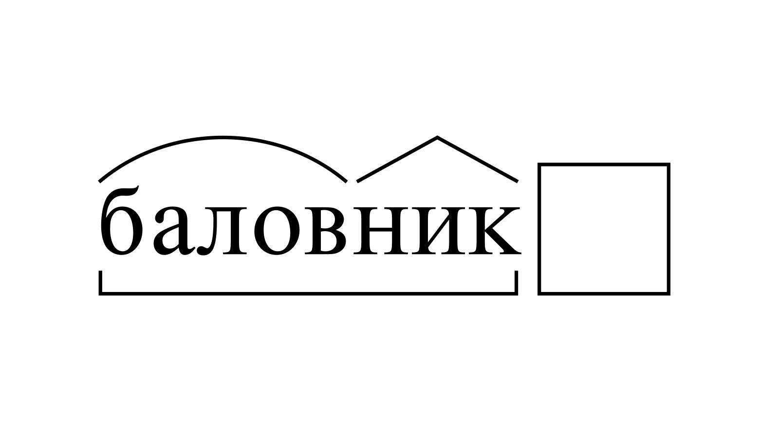 Разбор слова «баловник» по составу