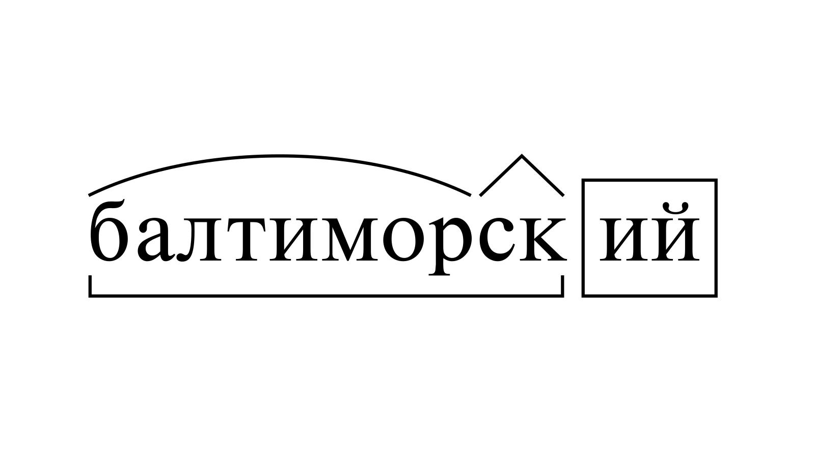 Разбор слова «балтиморский» по составу