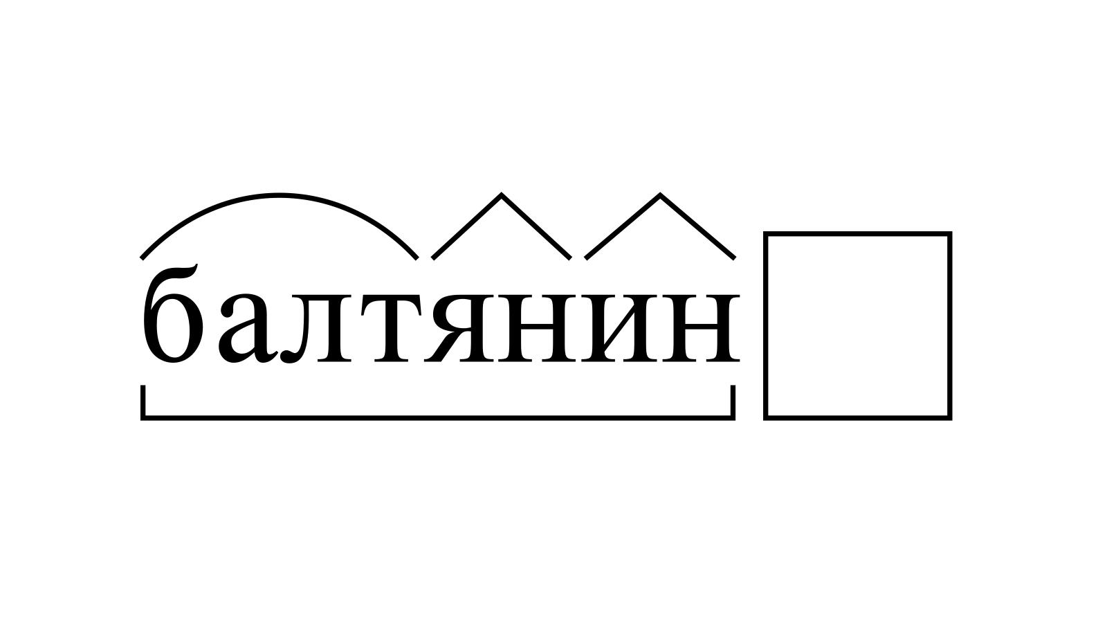 Разбор слова «балтянин» по составу