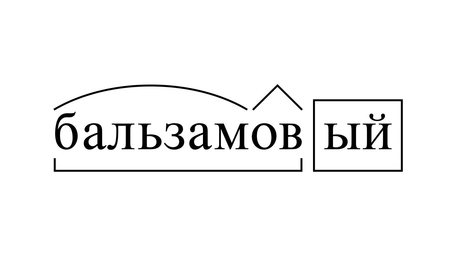 Разбор слова «бальзамовый» по составу