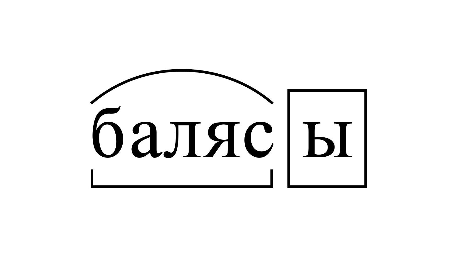 Разбор слова «балясы» по составу