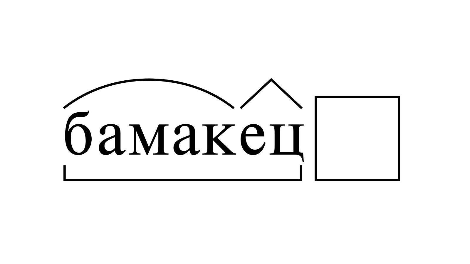 Разбор слова «бамакец» по составу