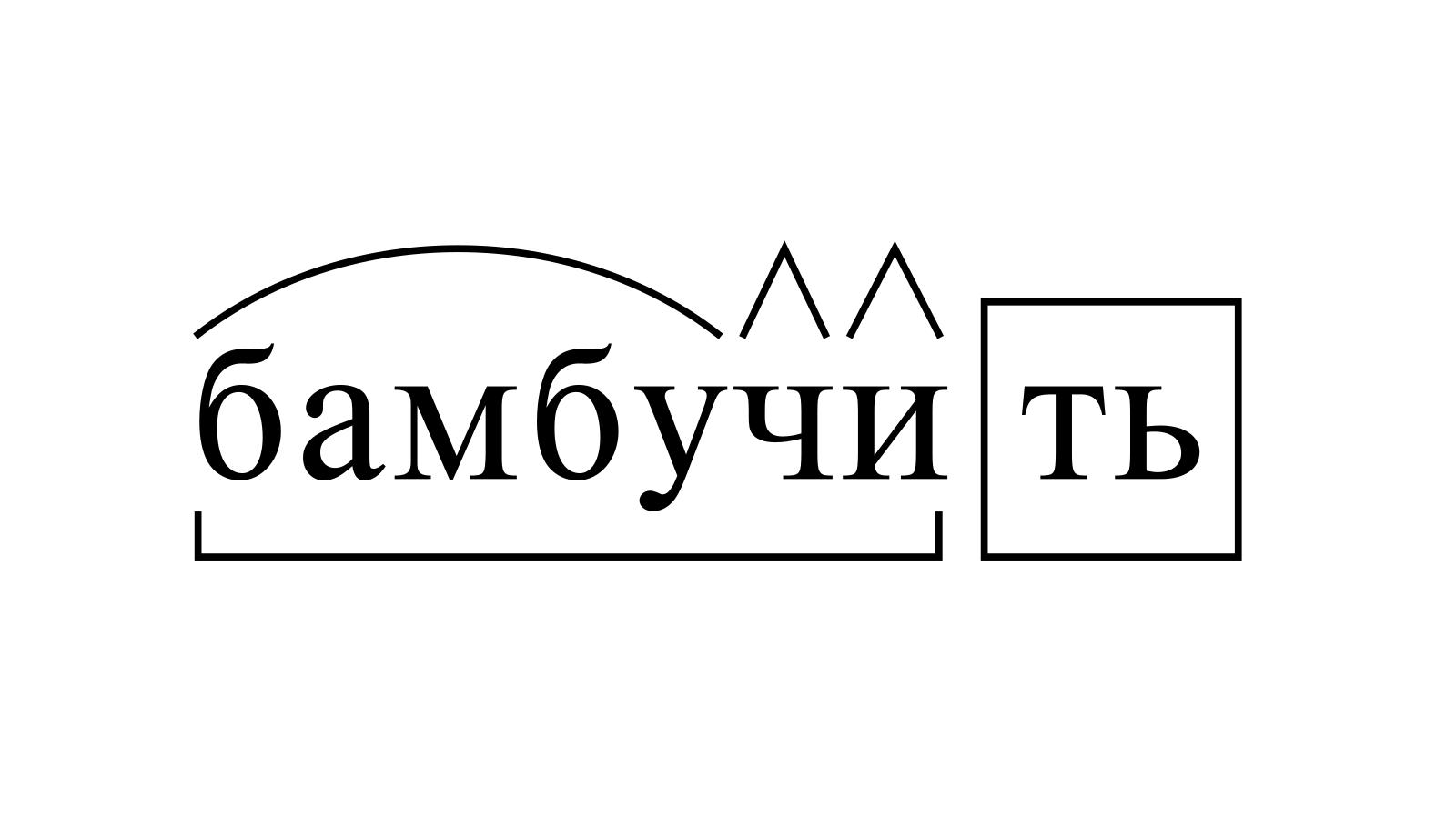 Разбор слова «бамбучить» по составу