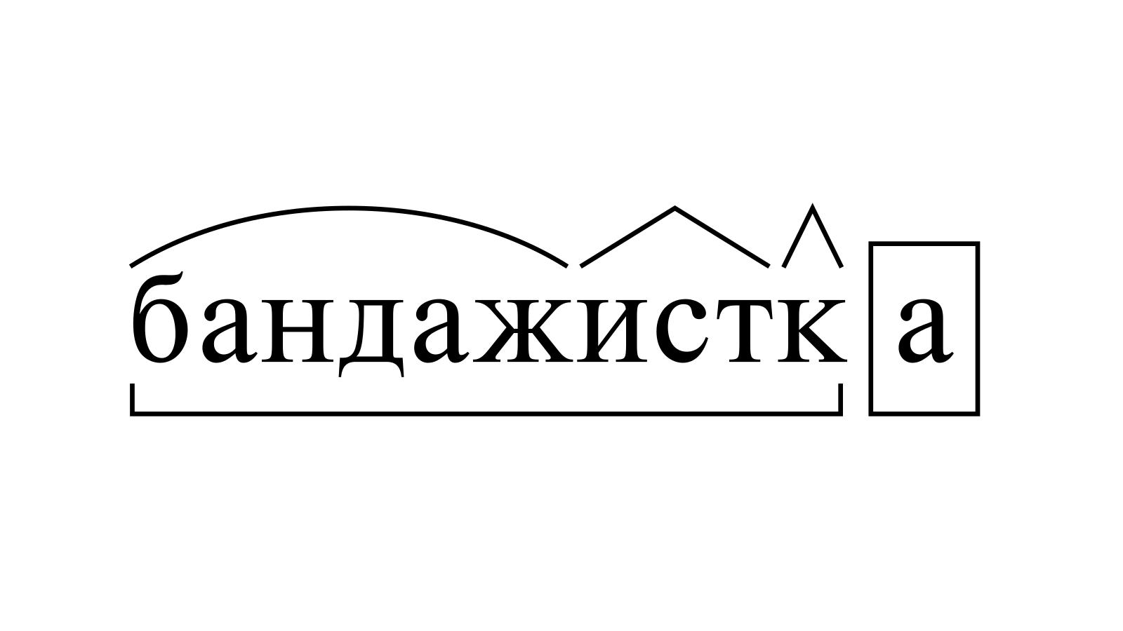 Разбор слова «бандажистка» по составу