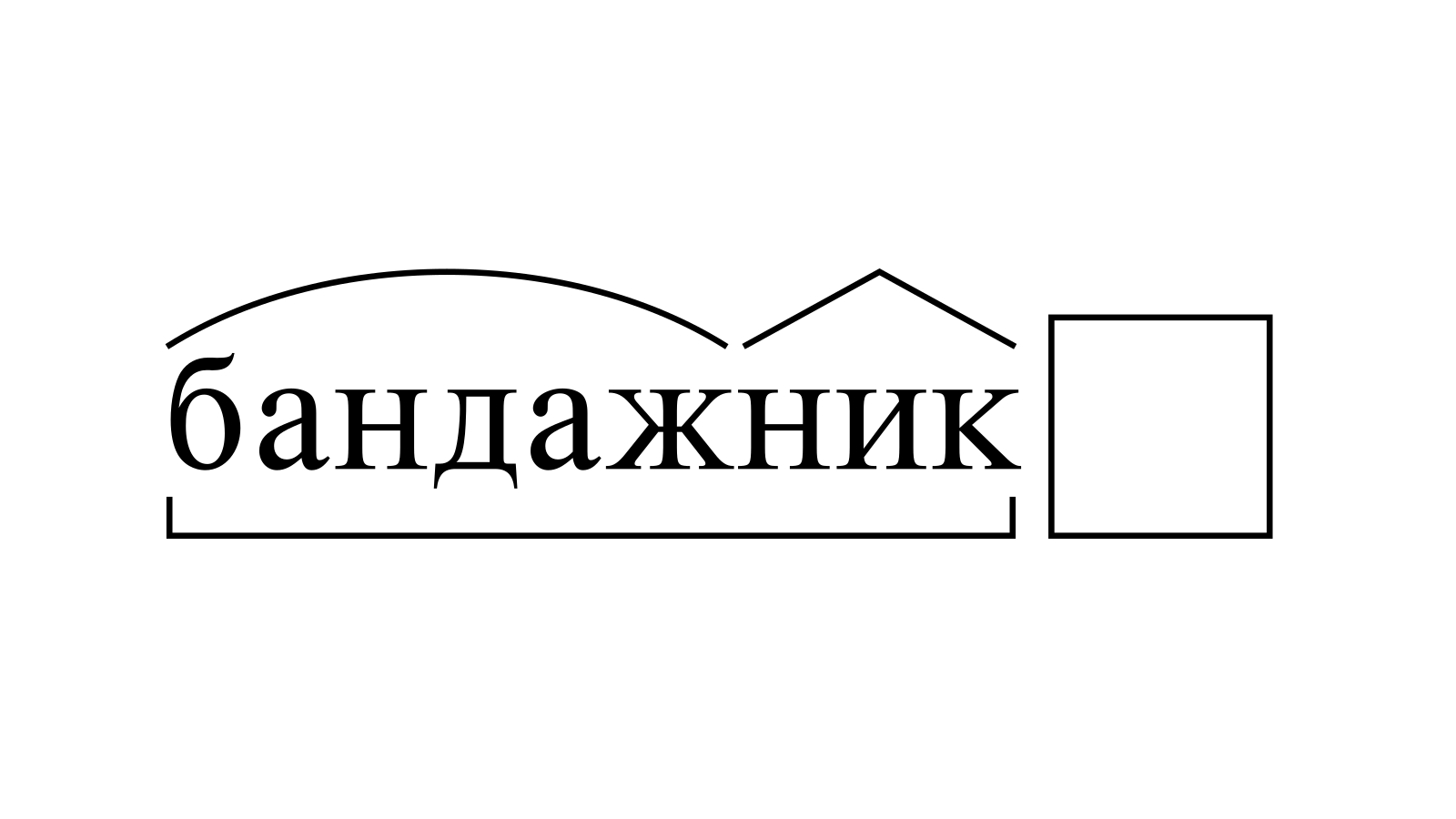 Разбор слова «бандажник» по составу