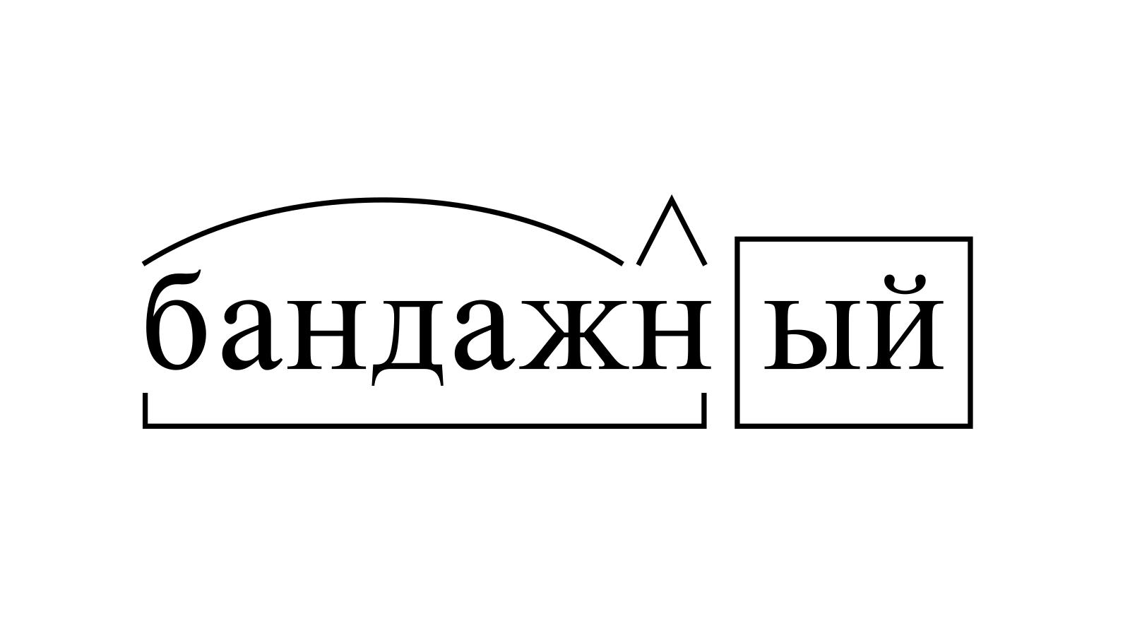 Разбор слова «бандажный» по составу