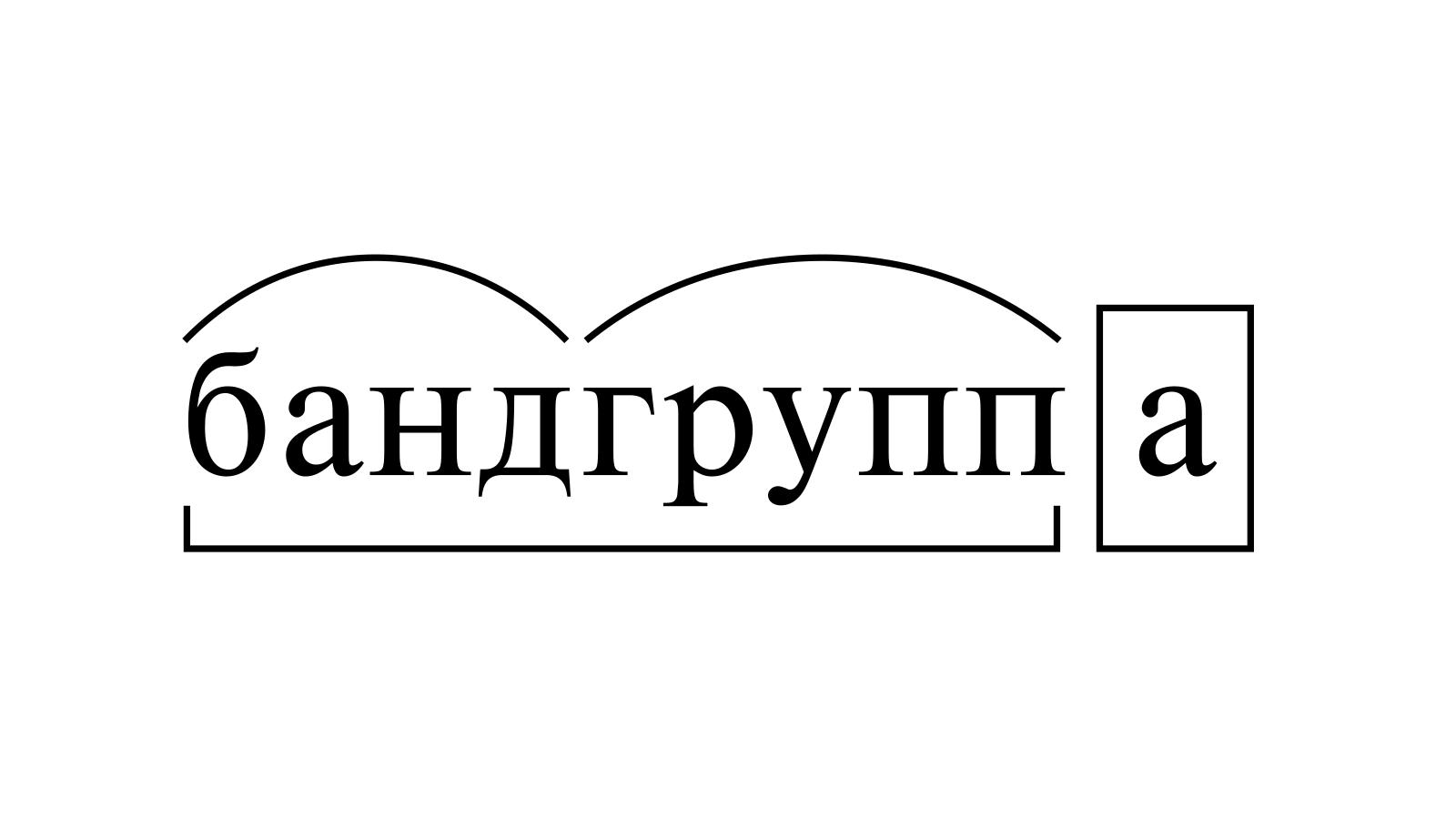 Разбор слова «бандгруппа» по составу