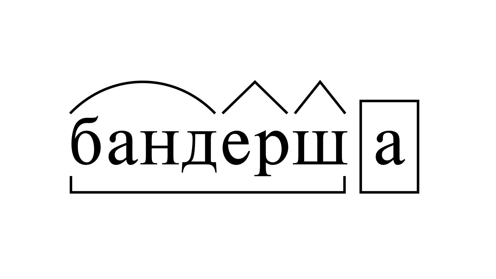 Разбор слова «бандерша» по составу