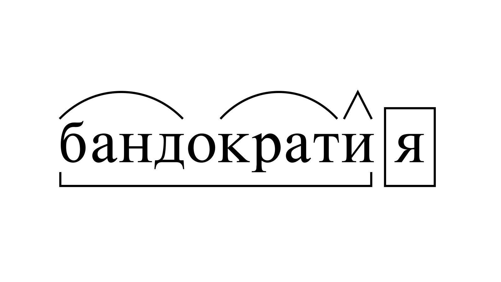 Разбор слова «бандократия» по составу