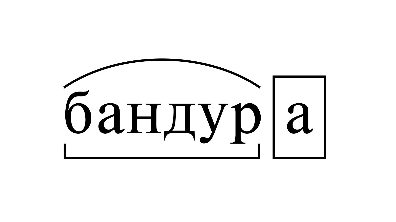 Разбор слова «бандура» по составу