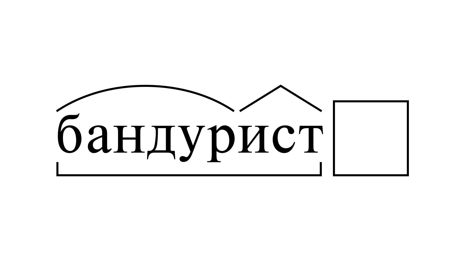 Разбор слова «бандурист» по составу