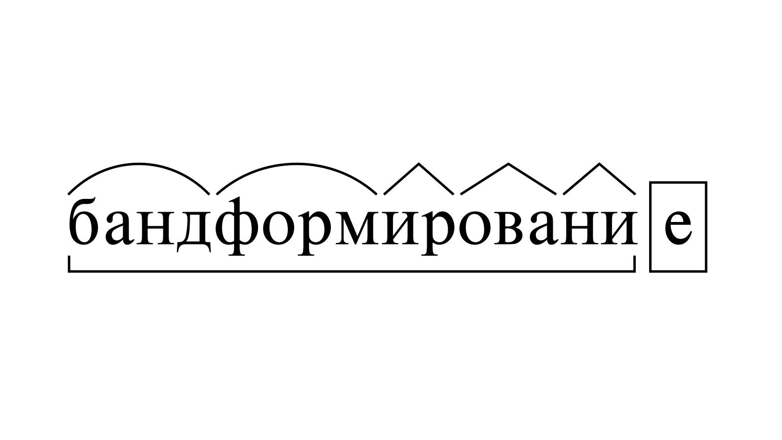 Разбор слова «бандформирование» по составу
