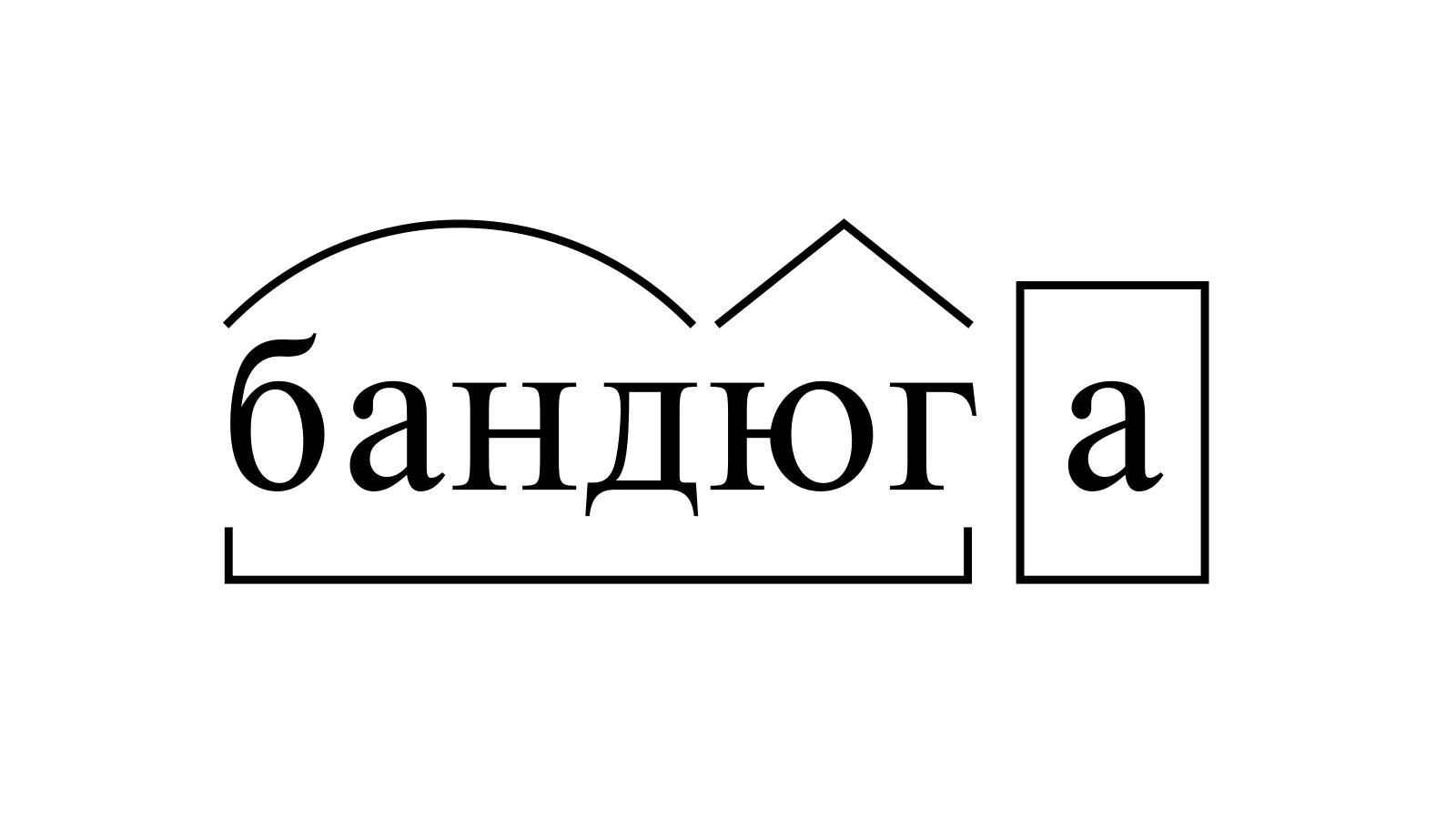 Разбор слова «бандюга» по составу