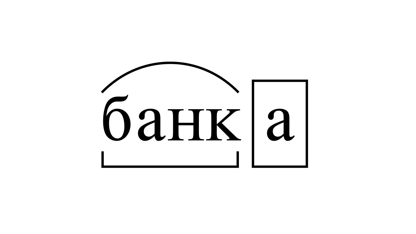 Разбор слова «банка» по составу