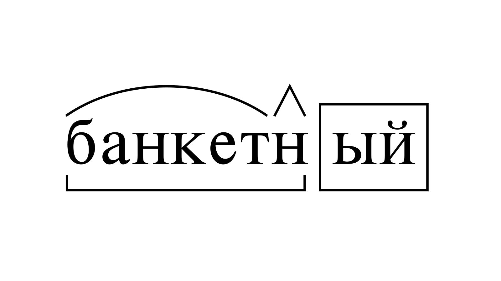 Разбор слова «банкетный» по составу