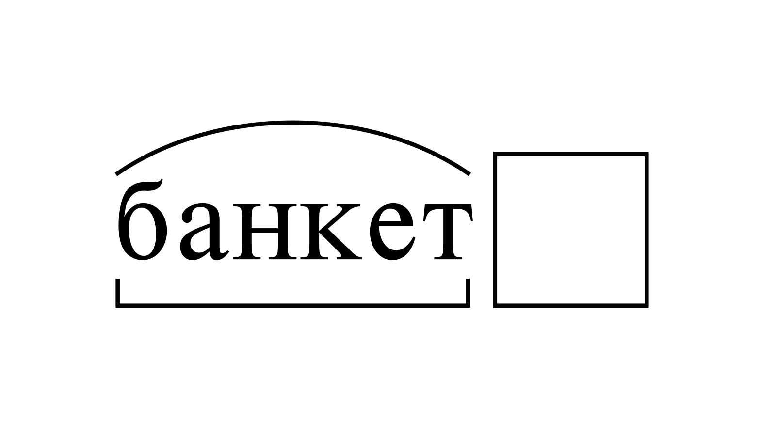 Разбор слова «банкет» по составу