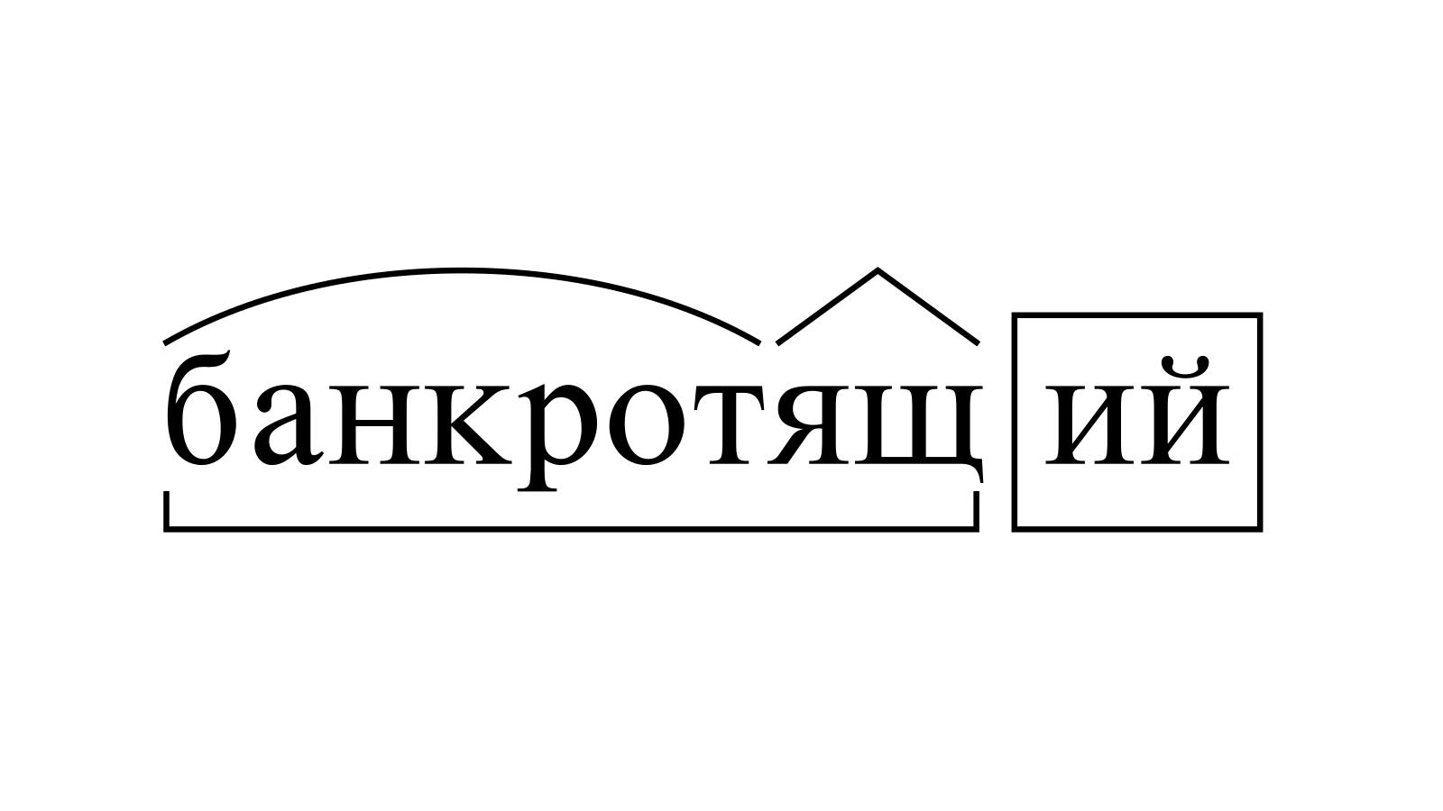 Разбор слова «банкротящий» по составу