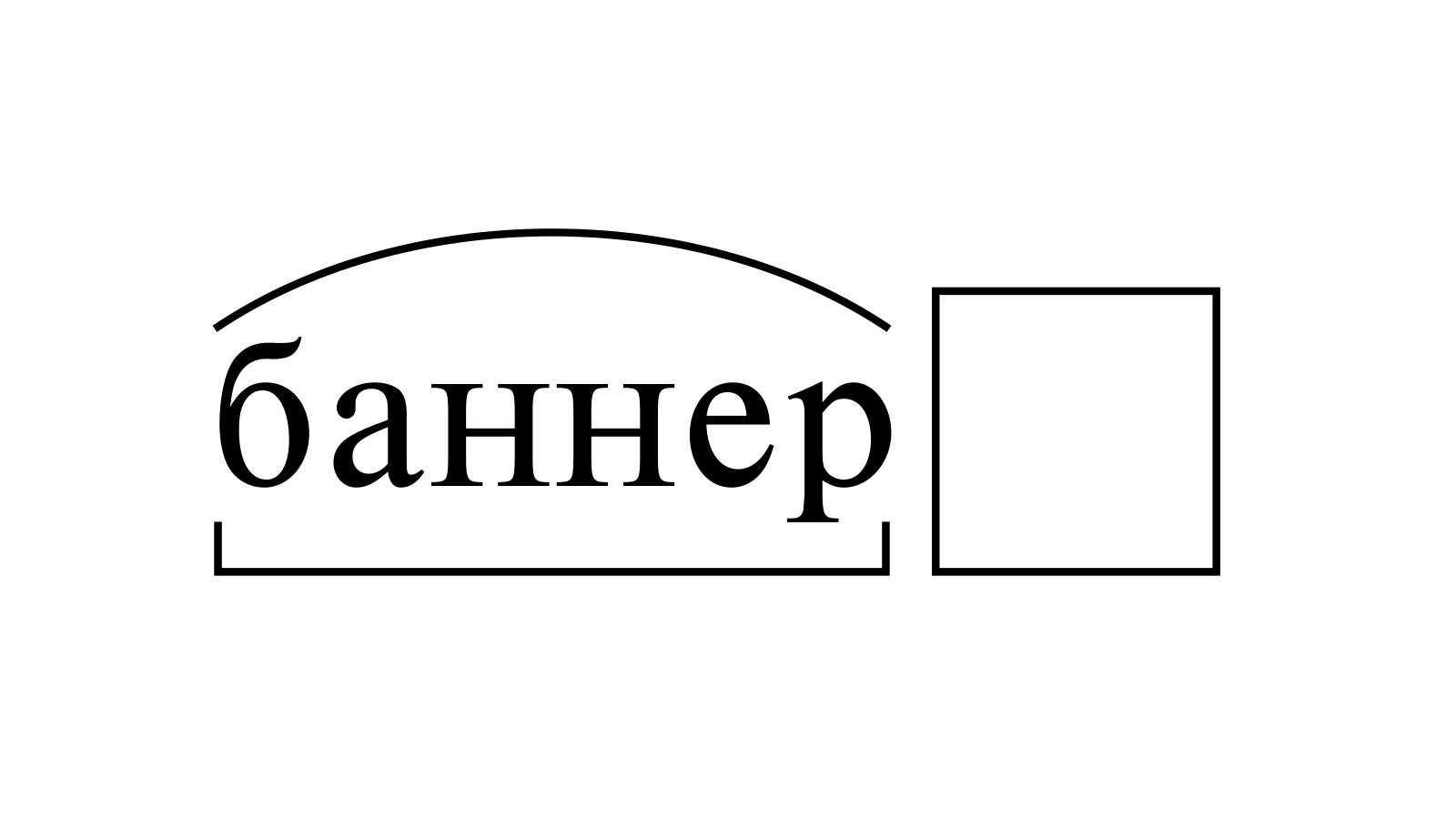 Разбор слова «баннер» по составу