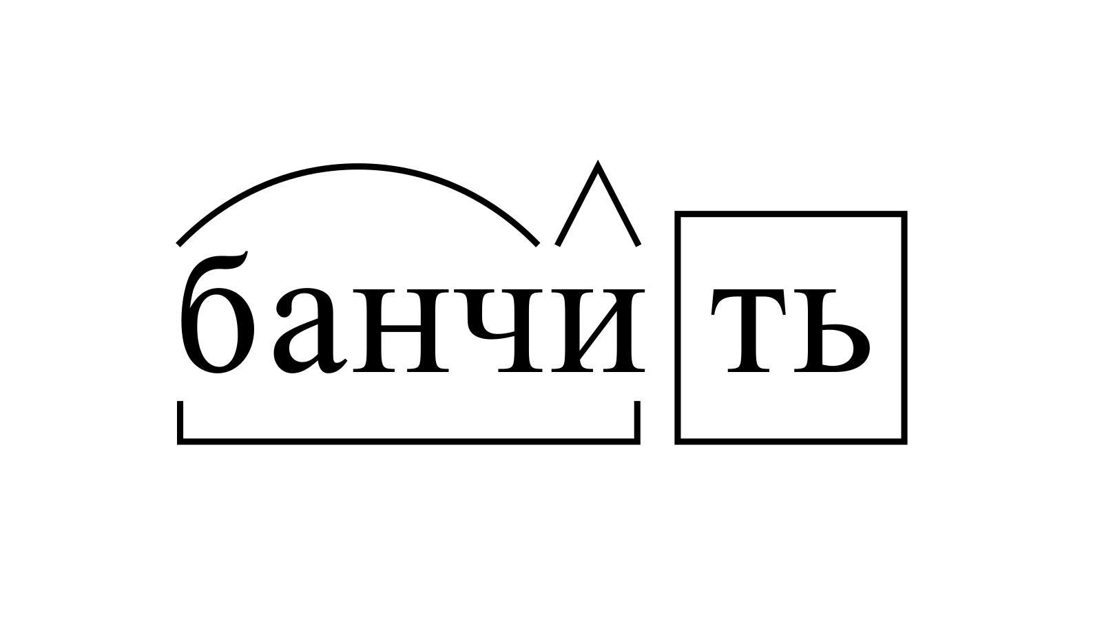Разбор слова «банчить» по составу