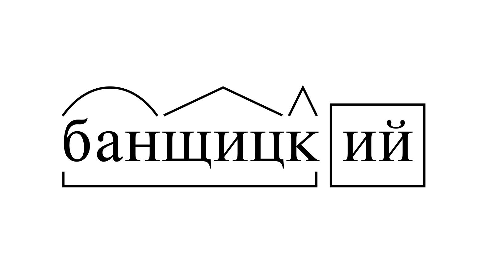 Разбор слова «банщицкий» по составу