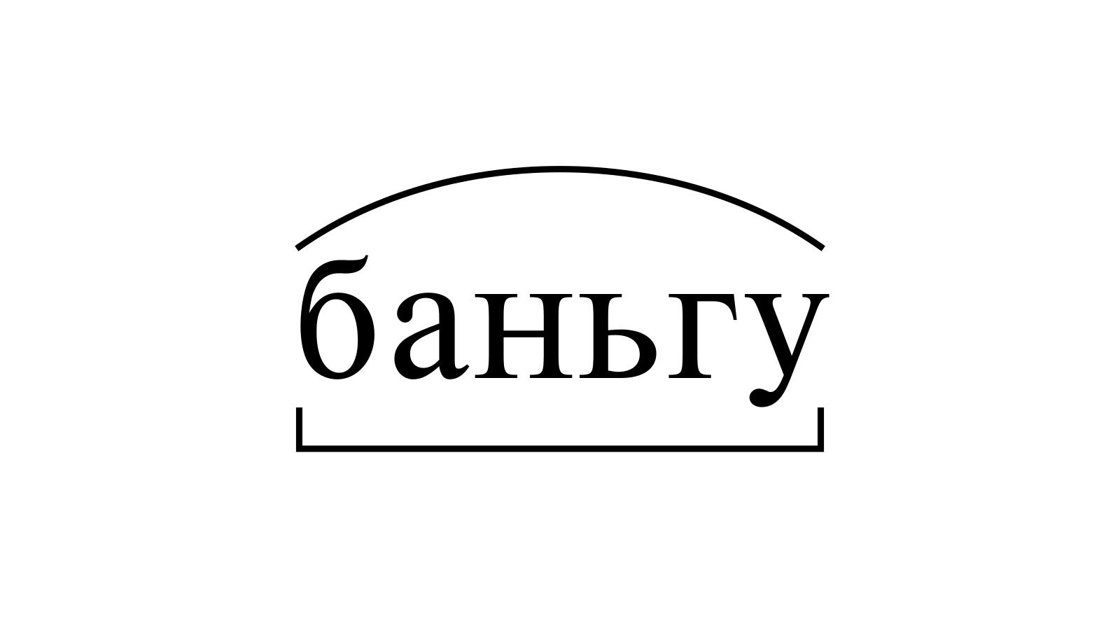 Разбор слова «баньгу» по составу