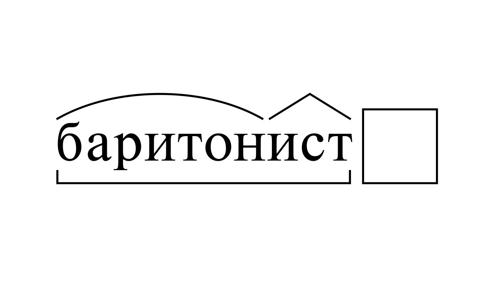 Разбор слова «баритонист» по составу