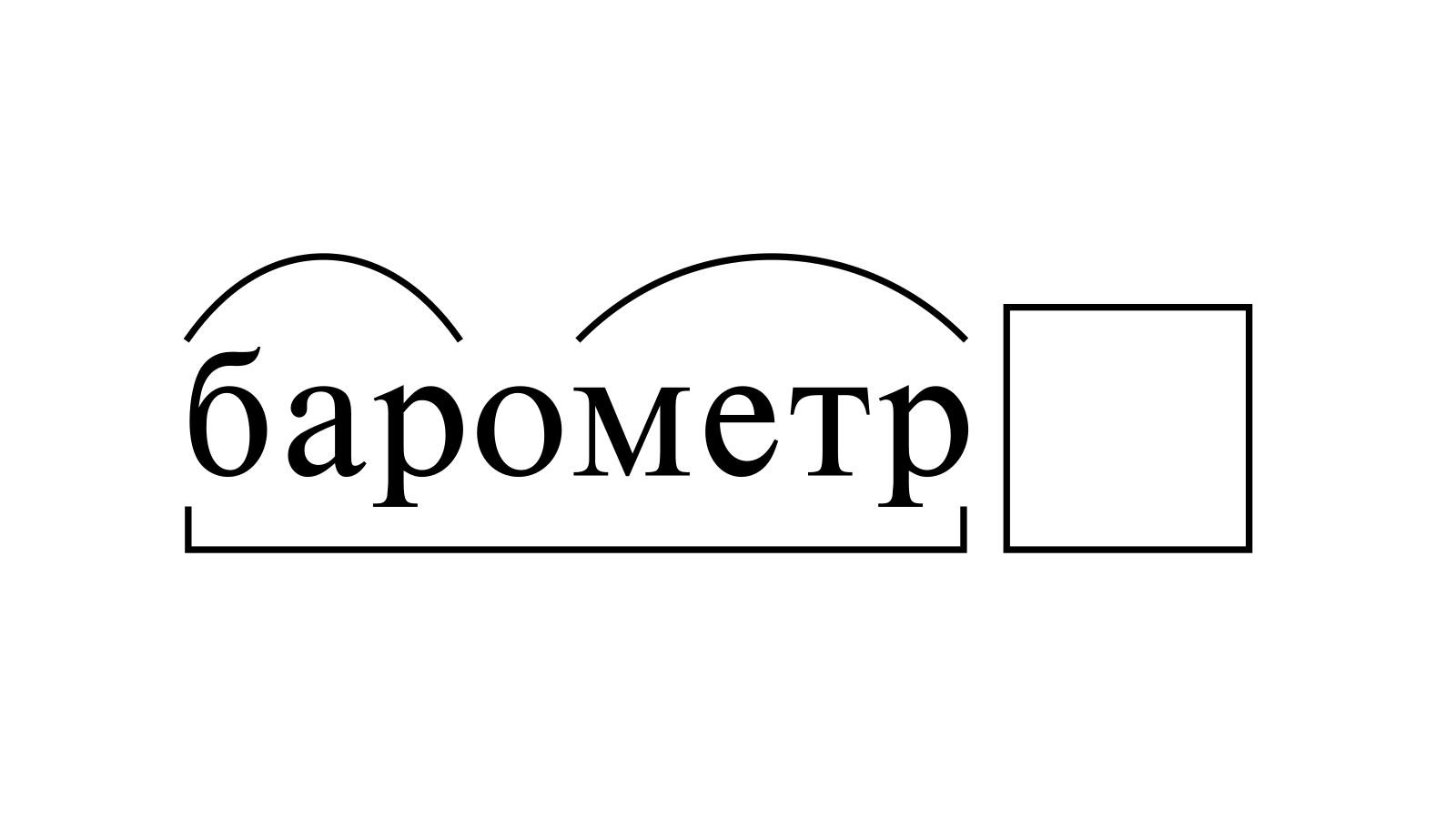 Разбор слова «барометр» по составу