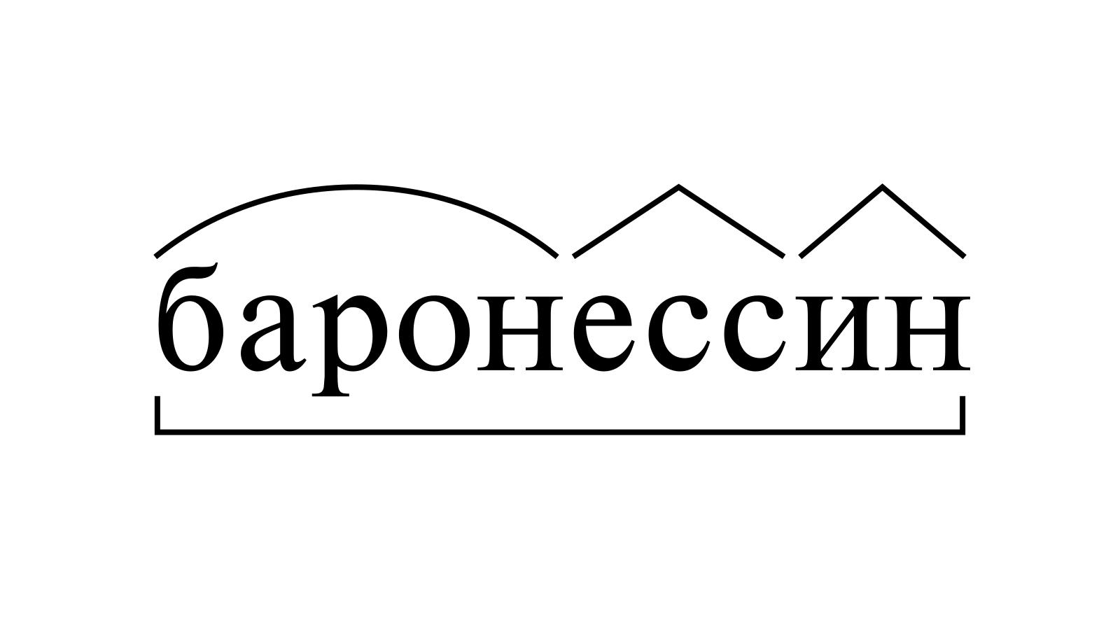 Разбор слова «баронессин» по составу