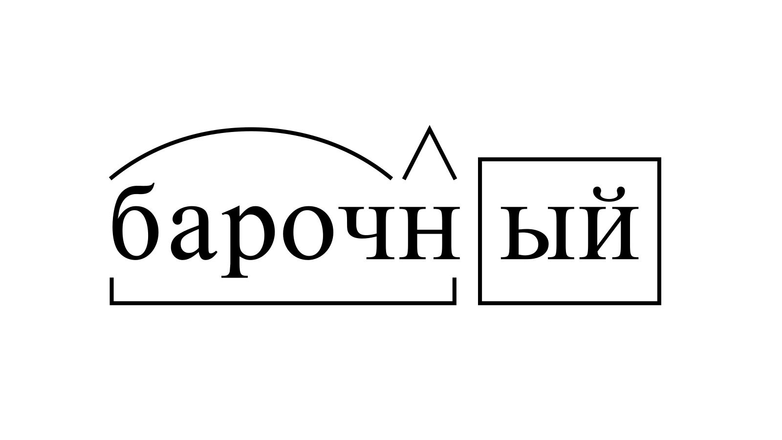 Разбор слова «барочный» по составу