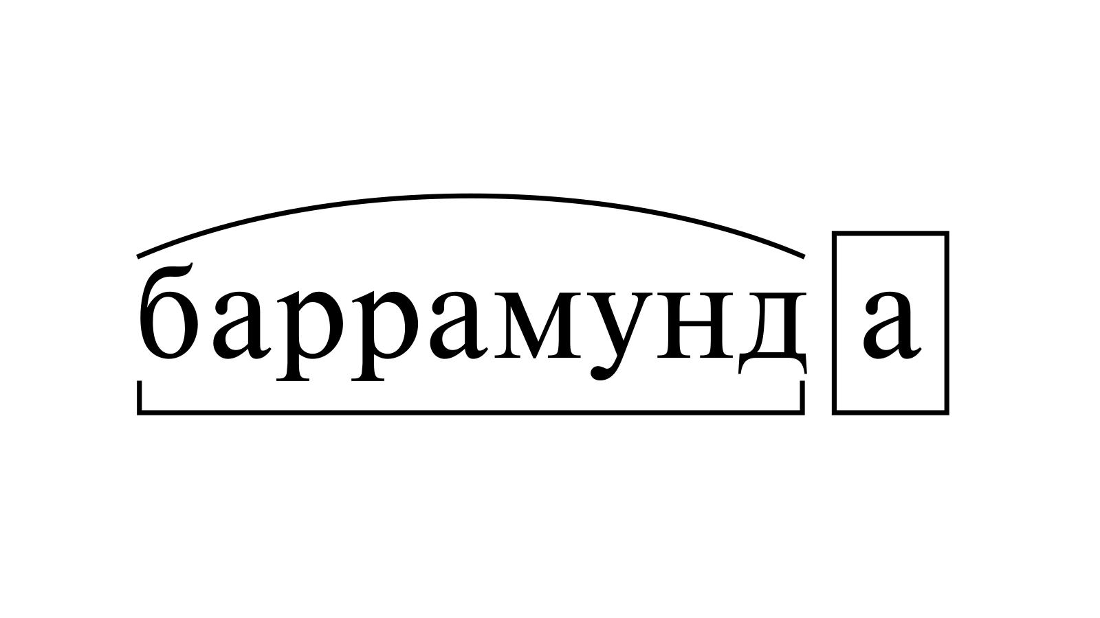 Разбор слова «баррамунда» по составу