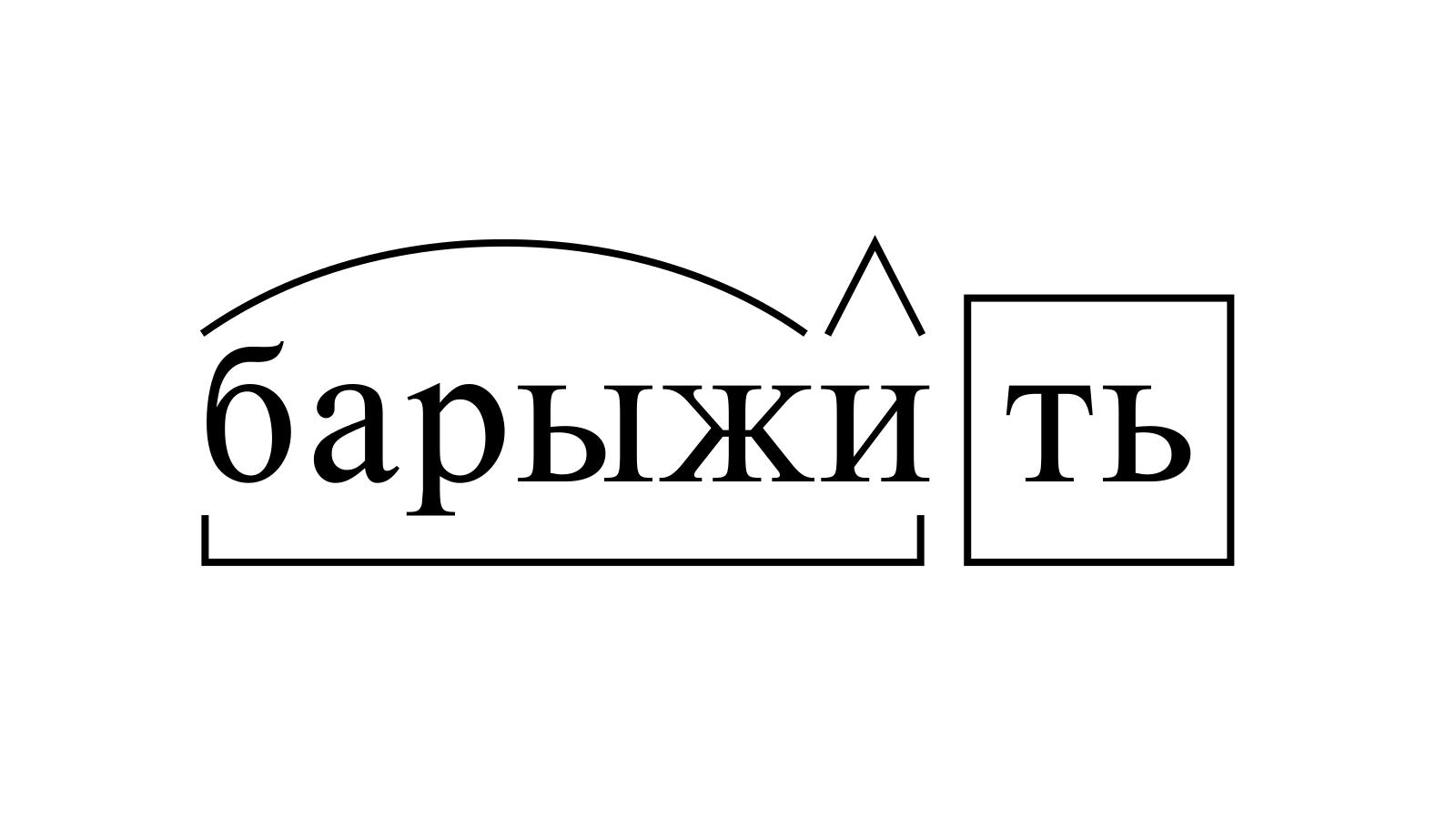 Разбор слова «барыжить» по составу