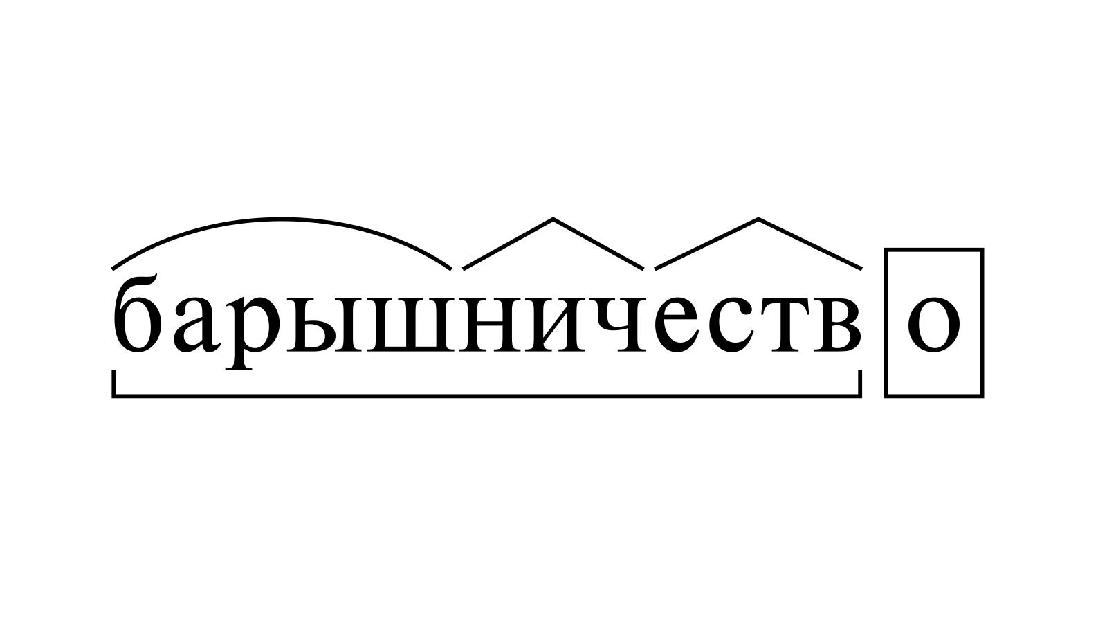 Разбор слова «барышничество» по составу