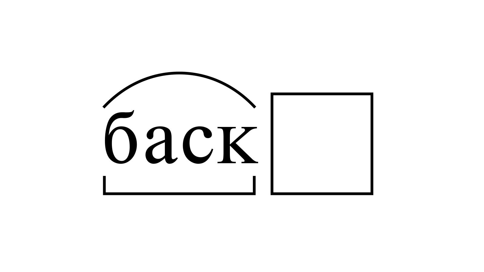 Разбор слова «баск» по составу