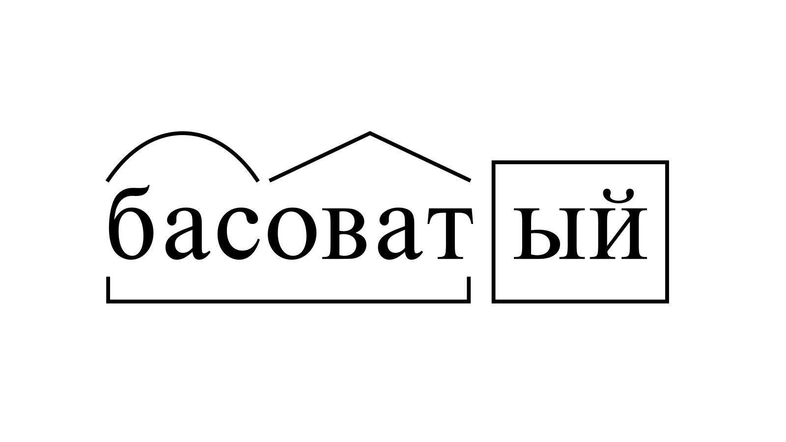 Разбор слова «басоватый» по составу