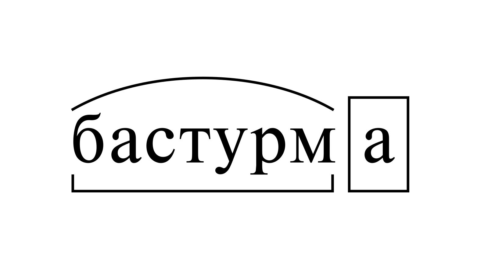 Разбор слова «бастурма» по составу