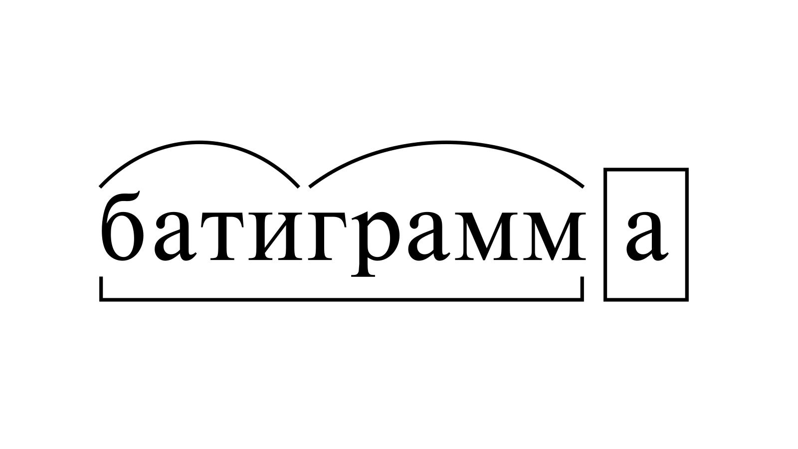 Разбор слова «батиграмма» по составу