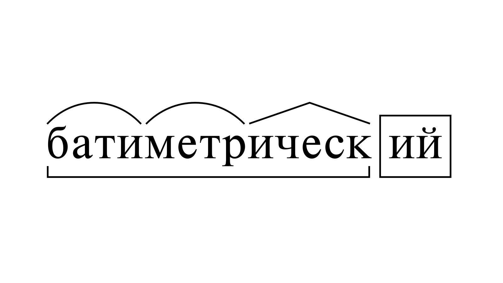 Разбор слова «батиметрический» по составу