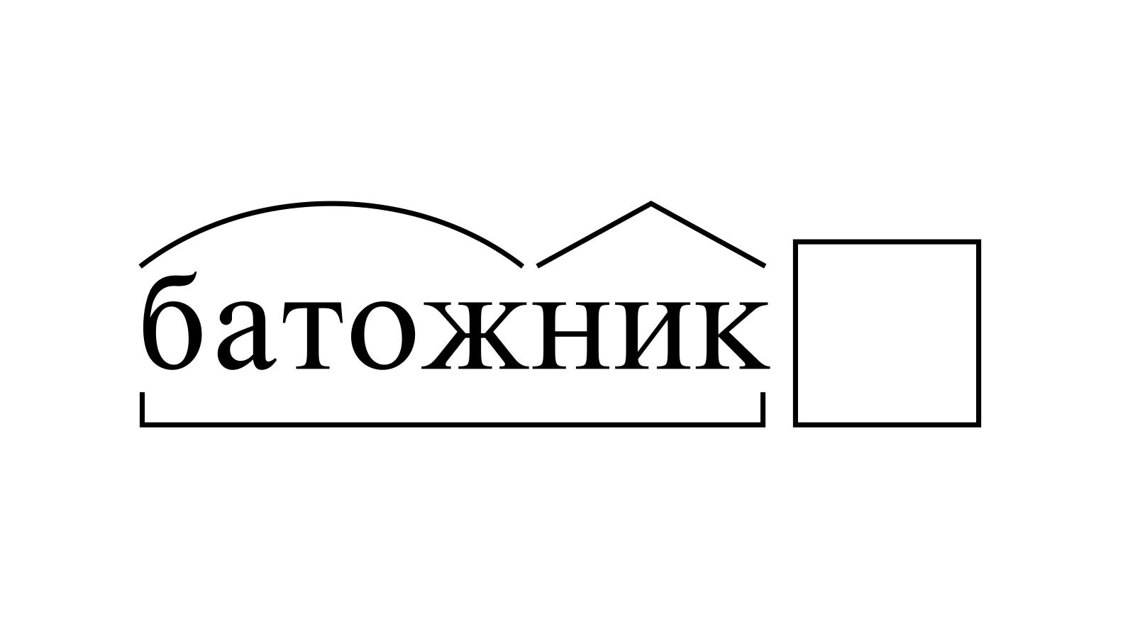 Разбор слова «батожник» по составу