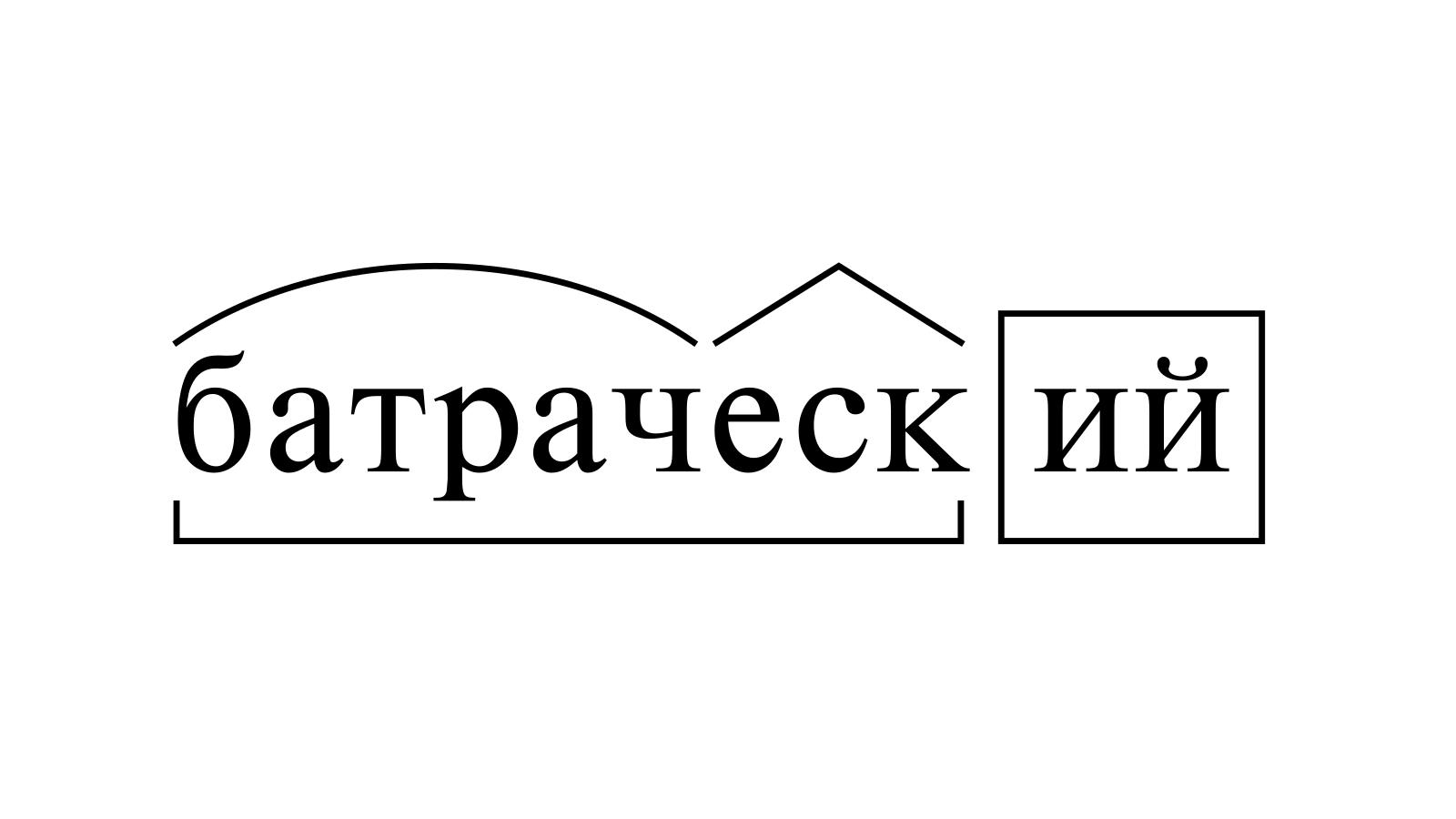Разбор слова «батраческий» по составу